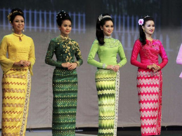 Myanmar traditional dress | fashionmyanmar.com